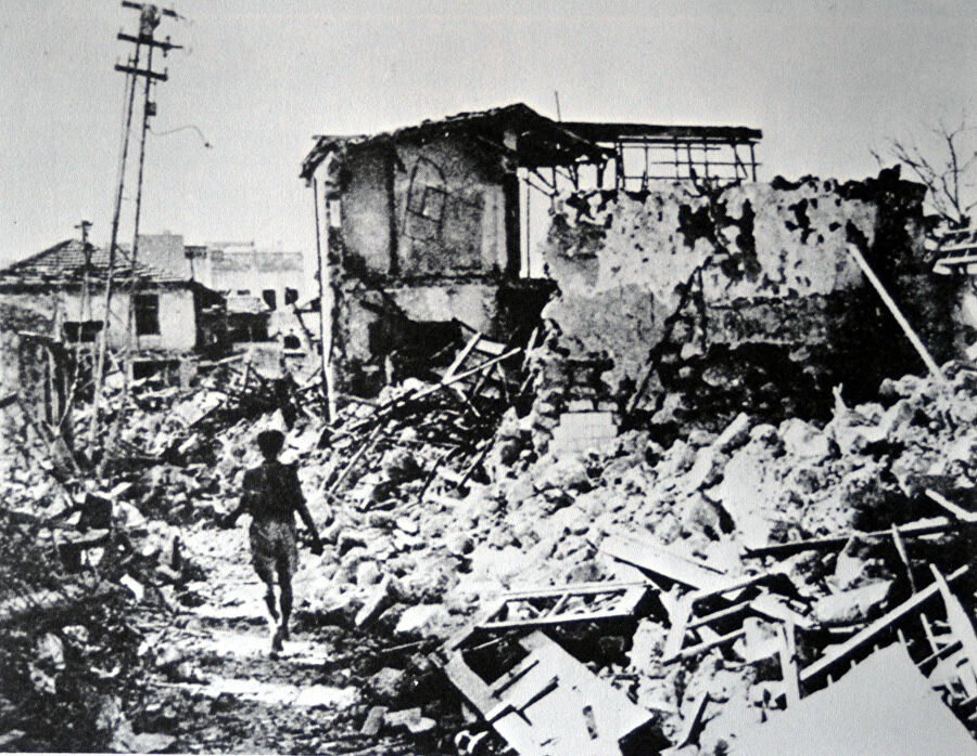 Квартал Яффо Манашия после миномётных обстрелов со стороны Иргуна. 1948 год