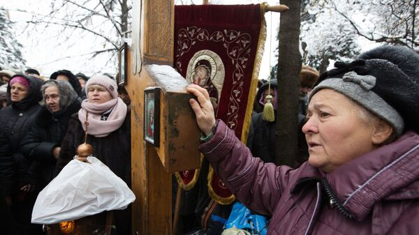 Акция в Киеве против переименования УПЦ