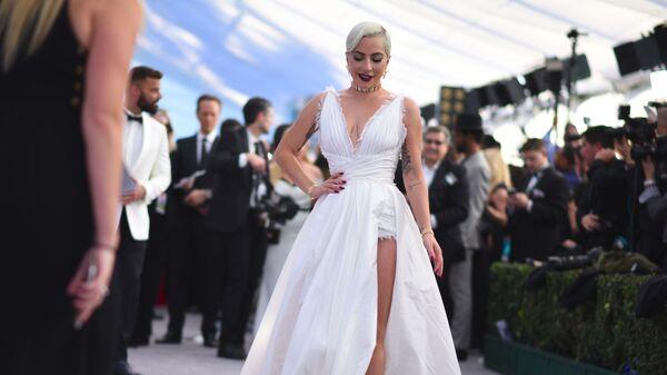 Леди Гага на церемонии вручении премии Гильдии киноактеров США