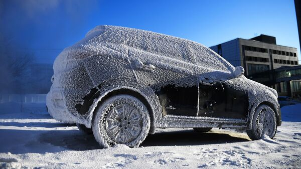 Автомобиль во время морозов