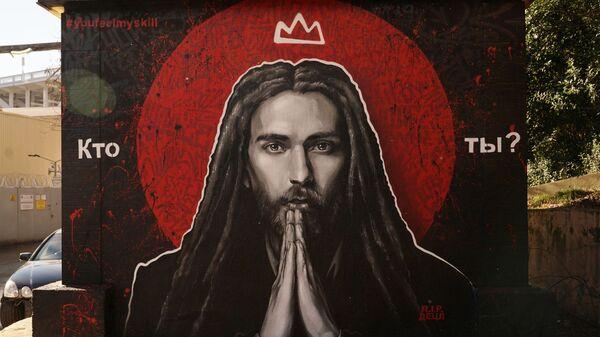 Граффити с изображением рэп-исполнителя Децла (Кирилла Толмацкого)