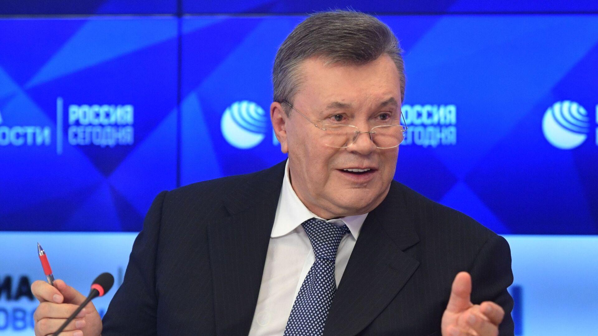 Бывший президент Украины Виктор Янукович на пресс-конференции в МИА Россия сегодня - РИА Новости, 1920, 31.07.2021