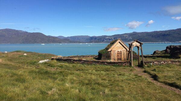 Реконструкция церкви, построенной в Гренландии на территории двора легендарного Эрика Рыжего