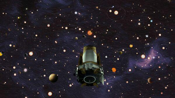 Телескоп Кеплер в представлении художника