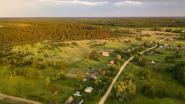 Вид на одну из улиц села Инякино в Шиловском районе Рязанской области