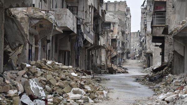 Улица в одном из районов Алеппо