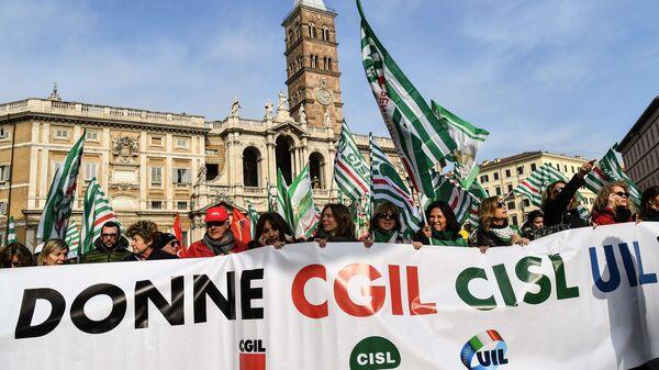 Акция протеста против экономической политики правительства, Рим. 9 февраля 2019