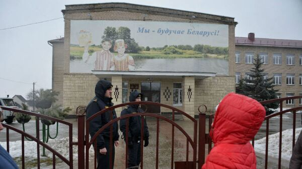 Здание школы в Столбцах, где произошло нападение