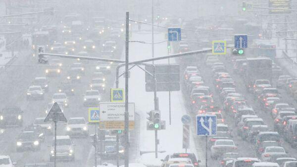 Снегопад в Москве. 13 февраля 2019