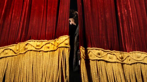 Театральный занавес. Архивное фото