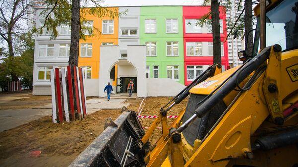 Строящийся детский сад