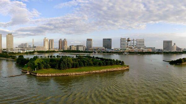 Вид на остров Одайба в Токио