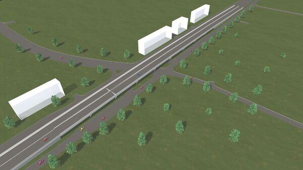 Проект эстакады на Симферопольском шоссе в Москве