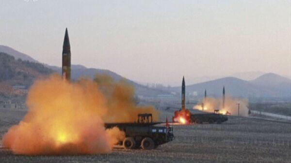 Запуск ракет в КНДР