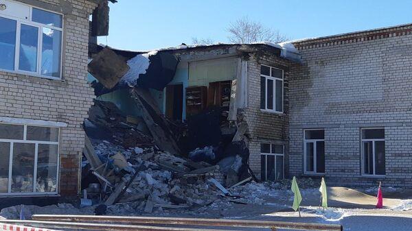 Обрушение здания школы в деревне Большие Чаки Урмарского района Чувашии. 10 марта 2019