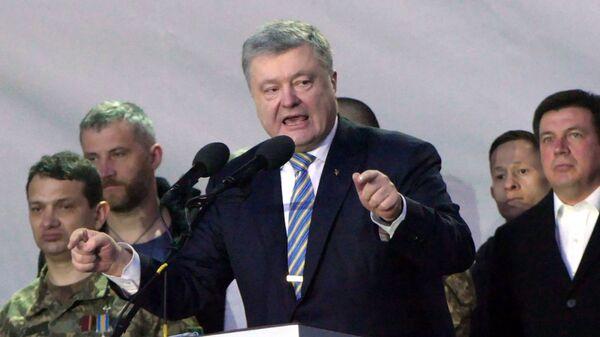 Президент Украины Петр Порошенко на митингах в Черкассах в рамках предвыборной кампании