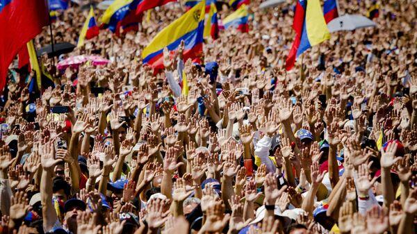 Митинг сторонников провозгласившего себя временным президентом страны лидера оппозиции Хуана Гуаидо в Каракасе. Архивное фото
