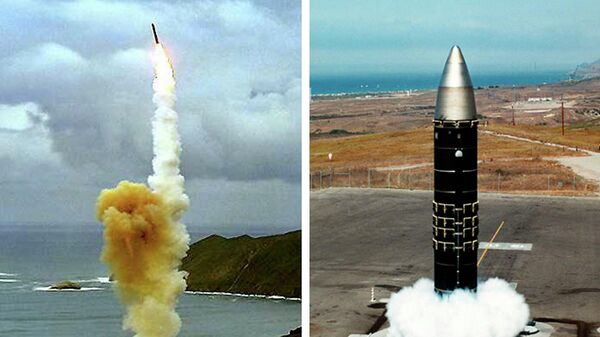 Американские межконтинентальный баллистические ракеты LGM-30G Minuteman и LG-118A Peacekeeper