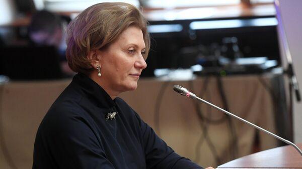 Главный государственный санитарный врач РФ Анна Попова во время 81-го заседания Экономического совета СНГ в Москве. 15 марта 2019