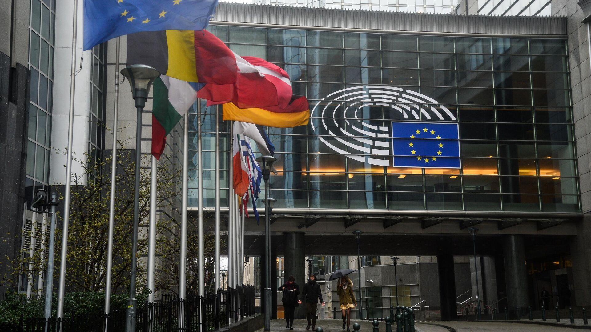 Здание Европейского парламента в Брюсселе - РИА Новости, 1920, 17.09.2020