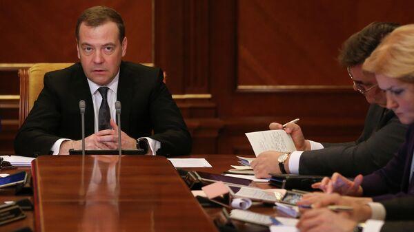 Дмитрий Медведев проводит заседание президиума Совета при президенте РФ по стратегическому развитию и национальным проектам.  18 марта 2019