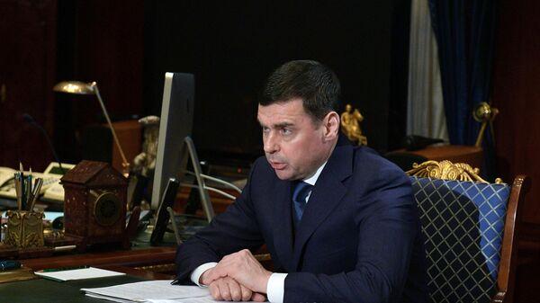 Губернатор Ярославской области Дмитрий Миронов во время встречи с председателем правительства РФ Дмитрием Медведевым