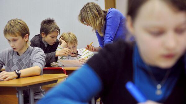 Ученики во время занятия