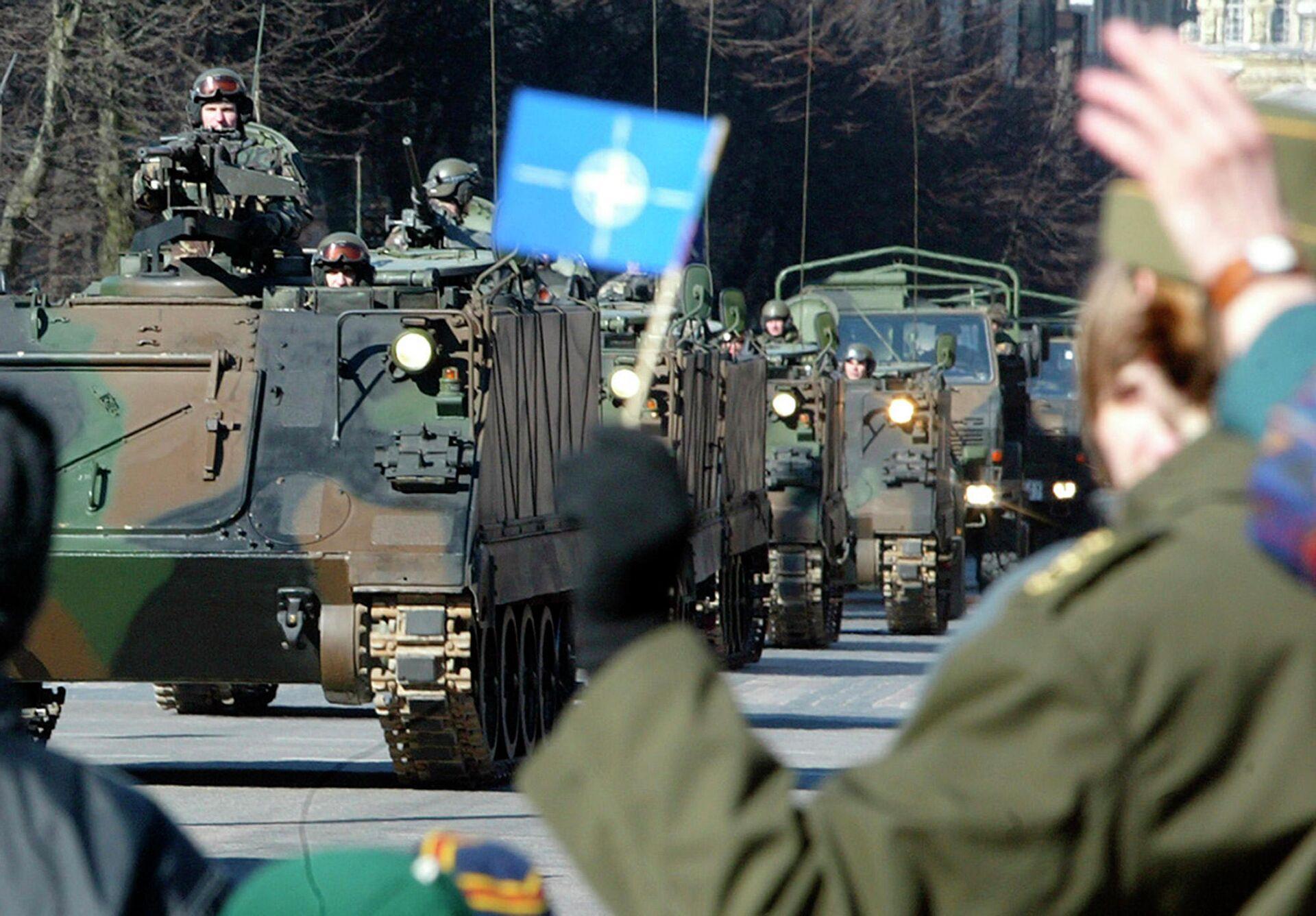 Парад в честь вступления трех стран Прибалтики в НАТО в Вильнюсе. 2004 год  - РИА Новости, 1920, 23.10.2020