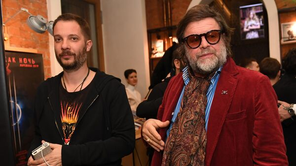 Писатель Александр Цыпкин и музыкант Борис Гребенщиков