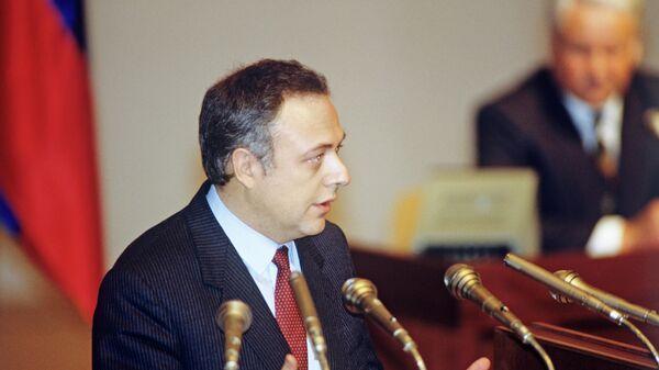 Министр иностранных дел Андрей Козырев. 12 декабря 1991