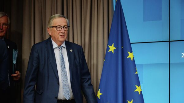 Председатель Европейской комиссии Жан-Клод Юнкер на саммите глав государств и правительств Евросоюза в Брюсселе