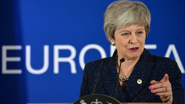 Премьер-министр Великобритании Тереза Мэй на саммите глав государств и правительств Евросоюза в Брюсселе