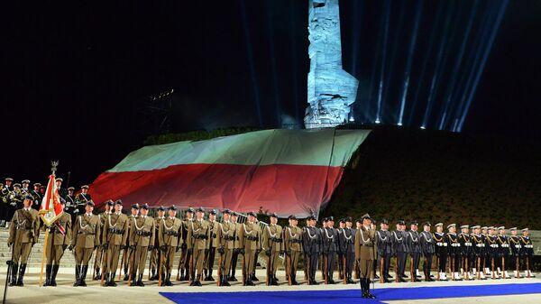 Церемония, посвященная годовщине окончания Второй Мировой войны, на польском полуострове Вестерплатте