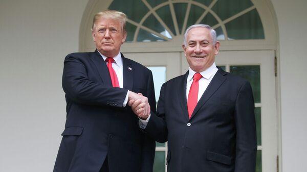 Президент США Дональд Трамп и премьер-министр Израиля Биньямин Нетаньяху в Белом доме в Вашингтоне. 25 марта 2019