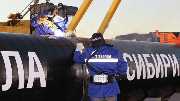Сварка стыка газопровода Сила Сибири