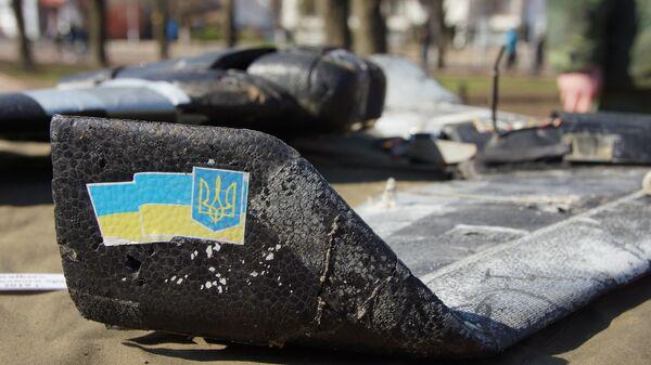 Экспонаты выставки свидетельств военной агрессии ВСУ в Луганске