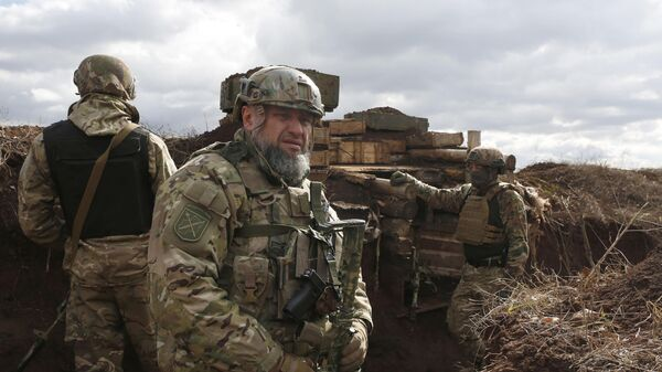 Солдаты ВСУ на линии разграничения в Донбассе