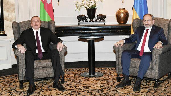Встреча президента Азербайджана Ильхама Алиева и премьер-министра Армении Никола Пашиняна в Вене