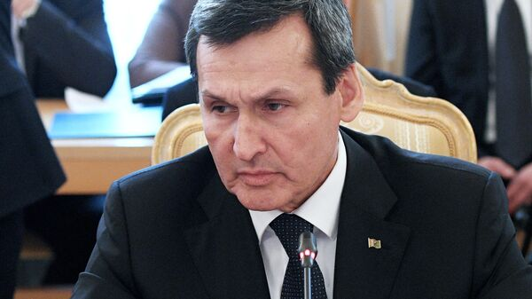 Министр иностранных дел Туркменистана Рашид Мередов на заседании совета министров иностранных дел СНГ в Москве. 5 апреля 2019