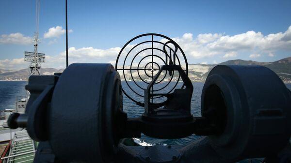 Малый противолодочный корабль МПК Поворино военно-морской базы Черноморского флота ВМФ России