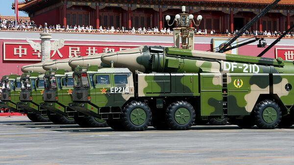 Наземные ракетные комплексы с противокорабельными баллистическими ракетами Dongfeng 21А (DF-21А) Народно-освободительной армии Китая