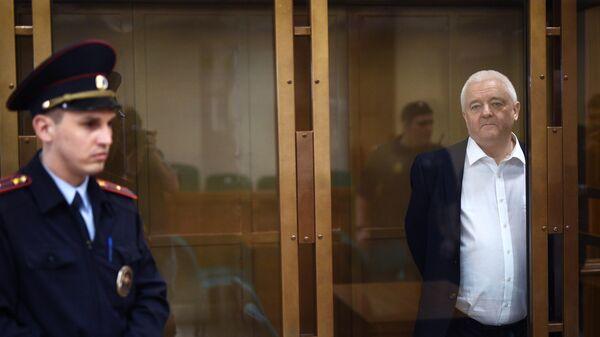 Гражданин Норвегии Фруде Берг, обвиняемый в шпионаже, во время оглашения приговора в Мосгосуде