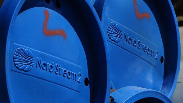 Фрагменты труб для строительства газопровода Северный поток — 2