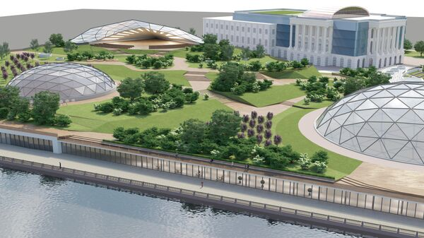 Проект парка на месте судебного квартала в Петербурге
