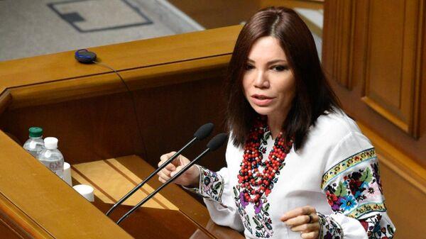 Виктория Сюмар на заседании Верховной рады Украины