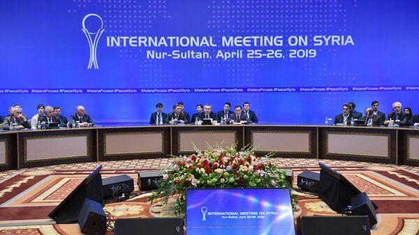 Участники переговоров в астанинском формате по Сирии