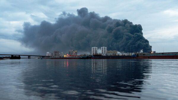 Пожар на заводе Красмаш в Красноярске. Архивное фото