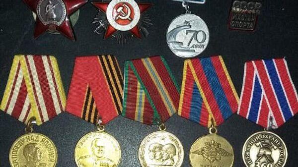 Ордена и медали, найденные на несанкционированной свалке на Сахалине