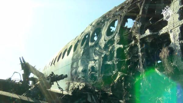 Катастрофа рейса SSJ-100 в Шереметьеве: кадры изнутри самолета