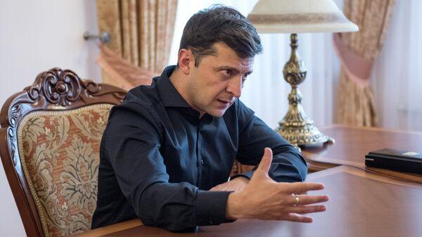 Избранный президент Украины Владимир Зеленский в Киеве